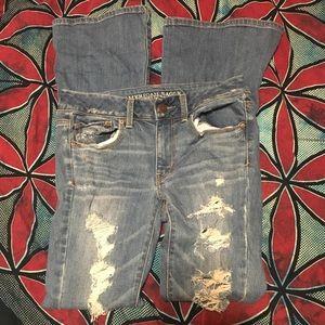 American Eagle Boho Artist destroyed jeans